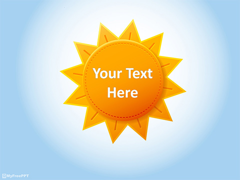 Free Sun PowerPoint Templates - MyFreePPT - summer powerpoint template