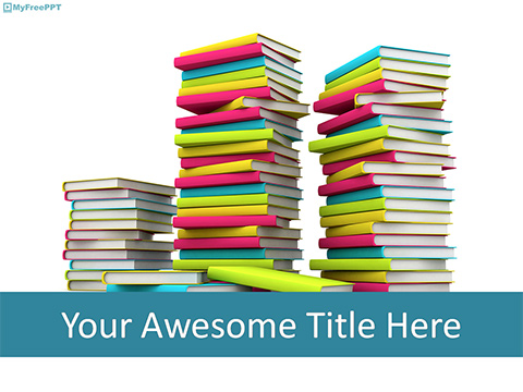 Free Flock of Books PowerPoint Template - Download Free PowerPoint PPT