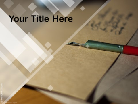 Free Letter Writing PPT Template - Download Free PowerPoint PPT - free letter writing template