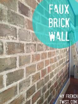 Modern Faux Brick Wall Faux Brick Wall My French Twist Faux Brick Wall Ideas Faux Brick Wall Interior