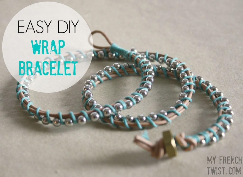 easy DIY wrap bracelet