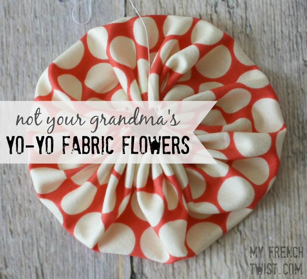 yo yo fabric flowers