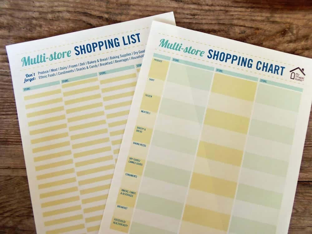 Printable Multi-Store Shopping Lists - shopping lists