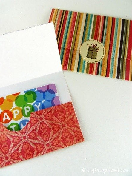 Printable Gift Card Holder Templates
