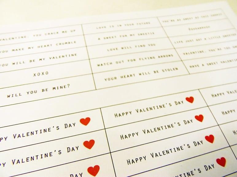 Printable Fortune Cookie Valentines
