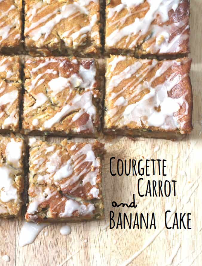 courgette, carrot and banana cake