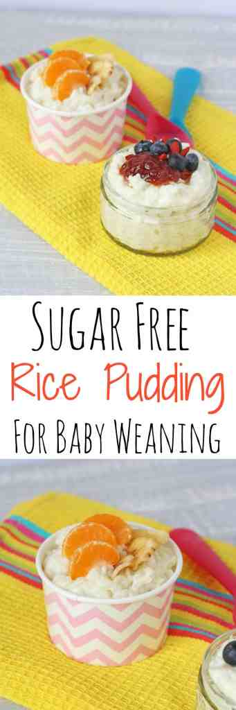 A delicious sugar free rice pudding recipe, naturally sweetened with coconut and great for weaning babies and children | My Fussy Eater Blog
