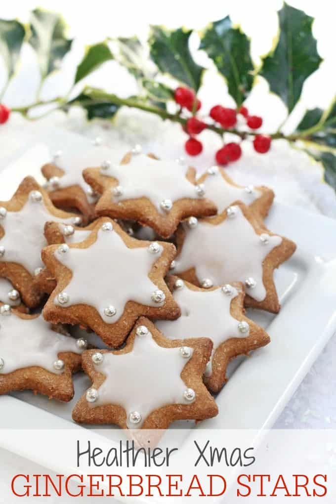 A healthier version of these delicious Christmas Gingerbread Star Cookies made with wholemeal spelt flour, coconut sugar and maple syrup   My Fussy Eater blog