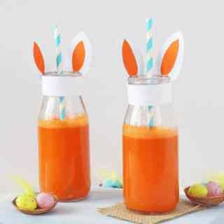 Packed full of Vitamins A and C, this Carrot & Orange Juice makes a really nutritious drink for kids and will help to balance out all that chocolate they're sure to eat this Easter!