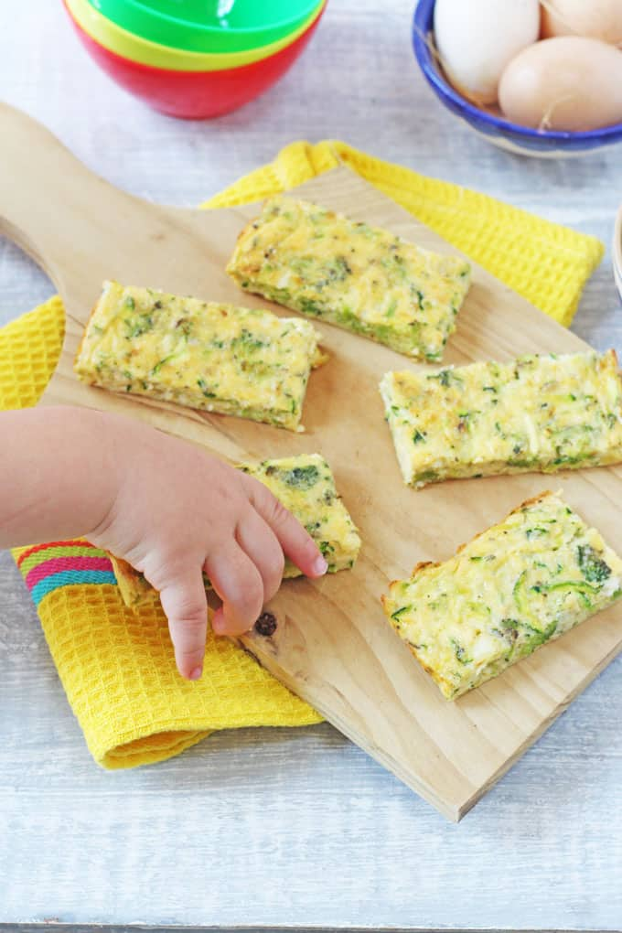 Broccoli Cheese Frittata Fingers, ideal for baby led weaning and ...