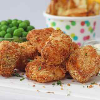 Delicious crispy baked salmon nuggets made using Norwegian Salmon