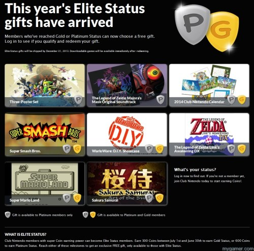 Club Nintendo 2013 Gifts