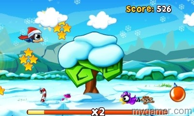 BirdManiaChristmas3D_Screen01 Bird Mania 3D Christmas 3DS eShop Review Bird Mania 3D Christmas 3DS eShop Review BirdManiaChristmas3D Screen01