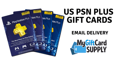 Buy PSN Plus Gift Cards - 24/7 Email Delivery - MyGiftCardSupply