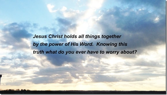 Christ Holds together