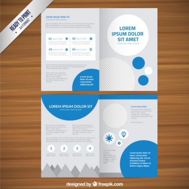 Free vector Leaflet template with circles #9957 My Graphic Hunt - leaflet template