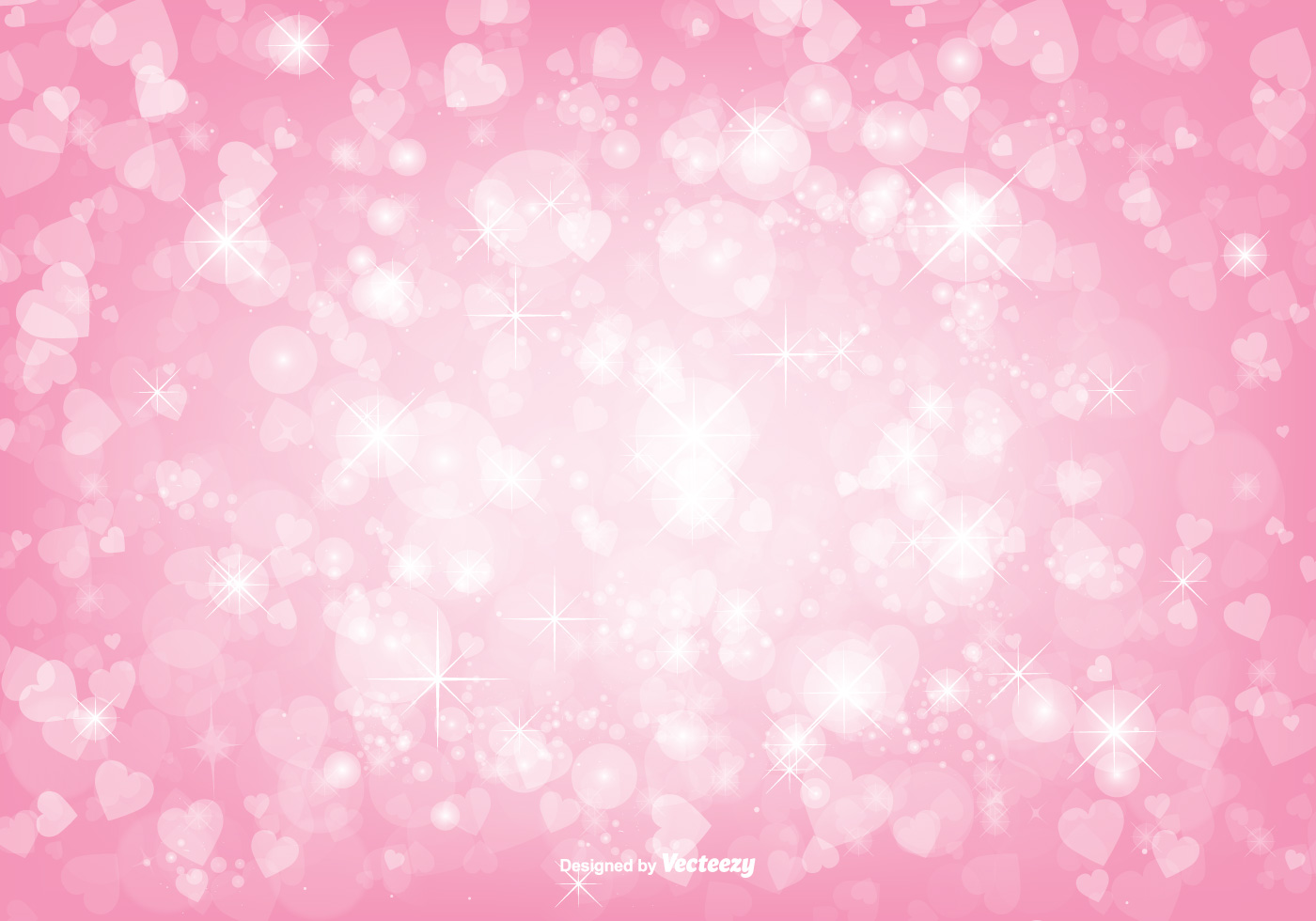 Cute Trendy Wallpapers Free Vector Beautiful Pink Bokeh Hearts Background