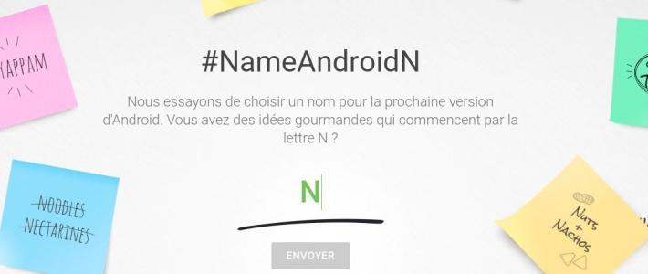 Aidez Google à trouver le nom d'Android N.