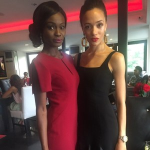 Elizabeth Arden Ambassador, Adeola Ariyo and TV personality Eku Edewor. PhotoCredit: StyleVitae IG