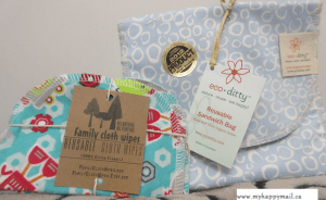 Eco-Ditty Re-useable Sandwich Bag Family Cloth Wipes- Reusable Cloth Wipes
