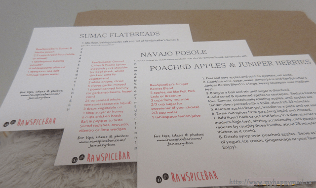 RawSpiceBar Recipe Cards