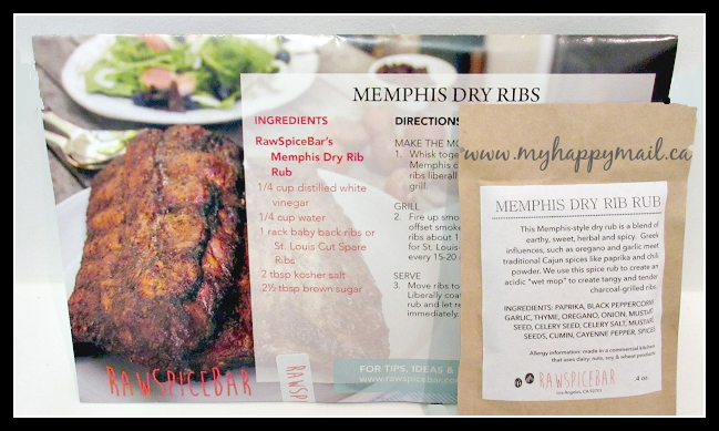 Memphis Dry Ribs RawSpiceBar - Spice Subscription Box Memphis Spice Box
