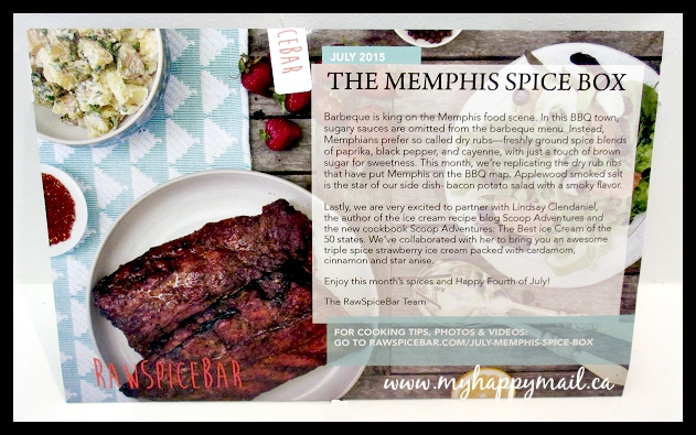 RawSpiceBar - Spice Subscription Box Memphis Spice Box