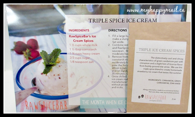 Triple Spice Ice Cream RawSpiceBar - Spice Subscription Box Memphis Spice Box