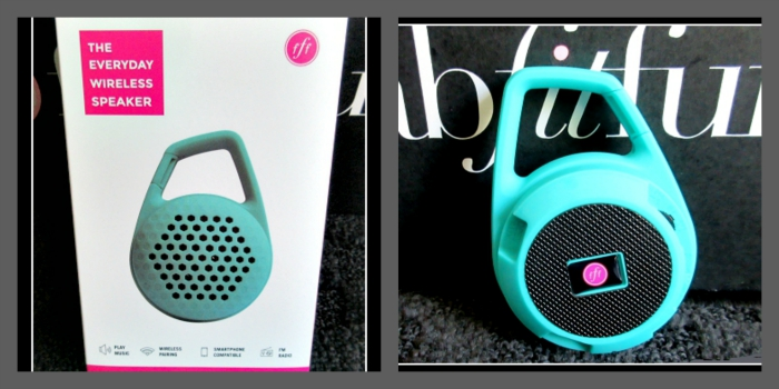 FabFitFun Summer 2015 Subscription Box Review and Promo Code Wireless Speaker in Teal