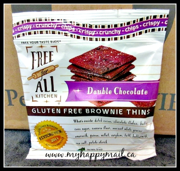 Little Life Box Canadian Subscription Box Review Free for All Kitchen Double Chocolate Gluten Free Brownie Thins