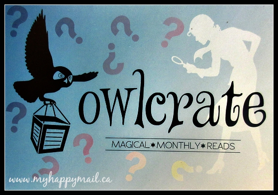 OwlCrate Subscription Box August 2015 Review Mystery Theme Box Card