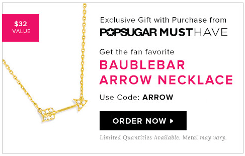 POPSUGAR FREE GIFT WITH PURCHASE