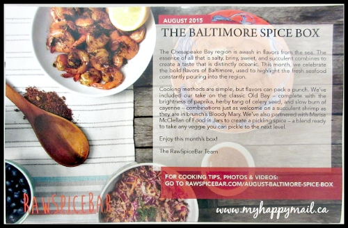 Raw Spice Bar Subscription Box The Baltimore Spice Box