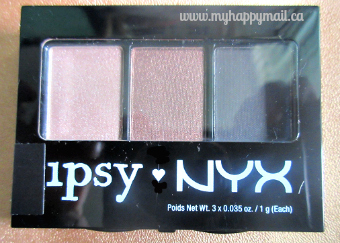Ipsy Review September 2015 GlamBag Ipsy Nyx EyeShadow
