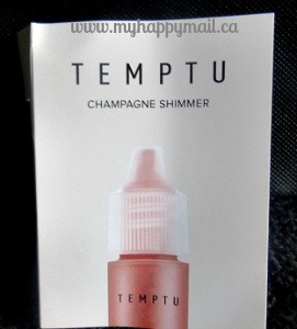 Ipsy Review September 2015 GlamBag Temptu Champagne Shimmer