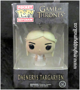 Owlcrate Review September 2015 Leading Ladies Book Subscription Box Funko POP Game of thrones Keychain Mother of the dragons