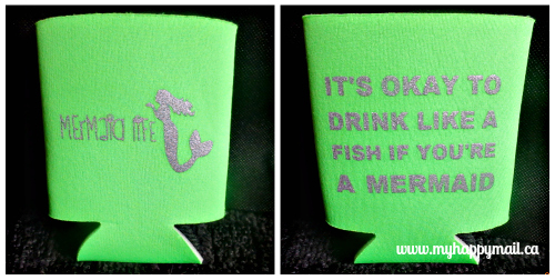Tail Mail Review Subscription Box September 2015 Mermaid Drink Coozie