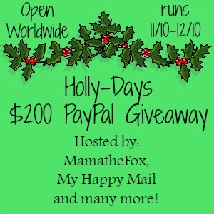 The Holly Days Paypal Giveaway -My Happy Mail