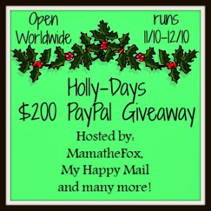 The Holly Days PayPal Giveaway