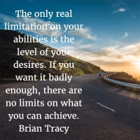 Brian Tracy: On Limits