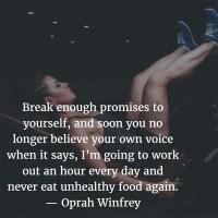 The Quotable Oprah Winfrey: On Promises