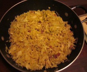 Cabbage and potato shak (veggies with different spices)