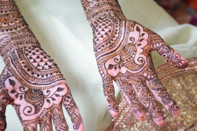 Indian bride henna
