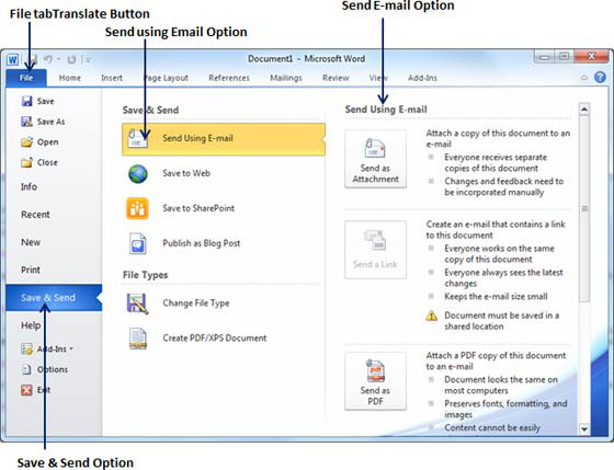 Word - Email Documents