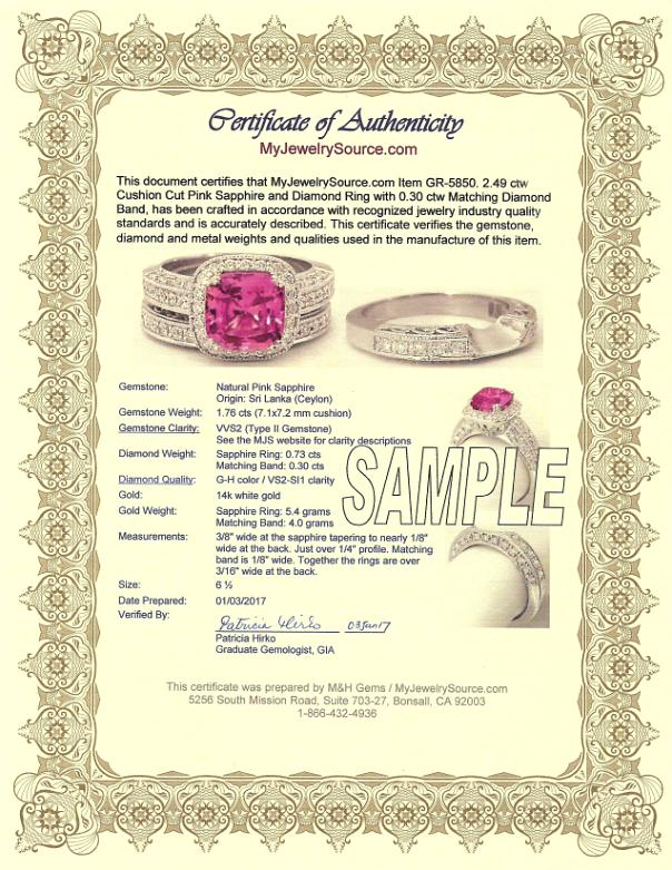 MyJewelrySource Certificates of Authenticity - certificate of authenticity template