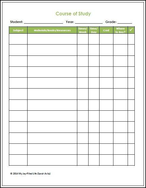 Homeschool Planning Resources  FREE Printables - My Joy-Filled Life - homeschool schedule template