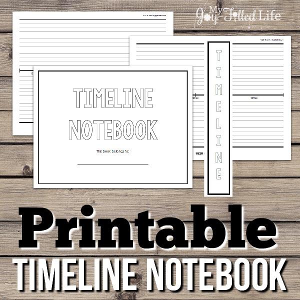 Printable Timeline Notebook - My Joy-Filled Life