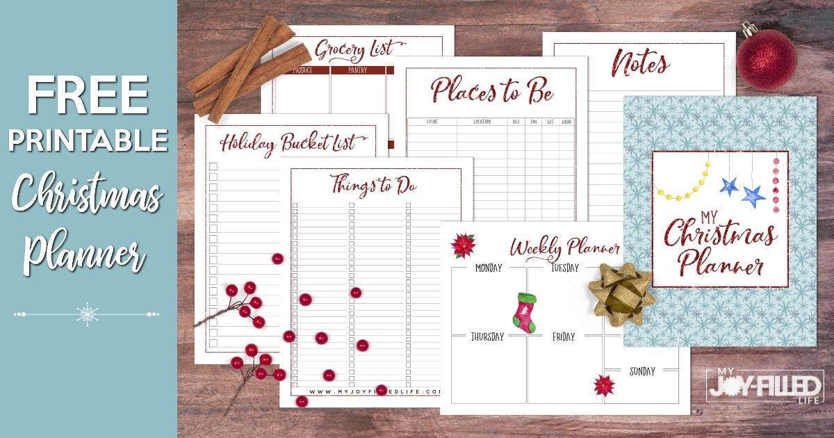 FREE Printable Christmas Planner - My Joy-Filled Life
