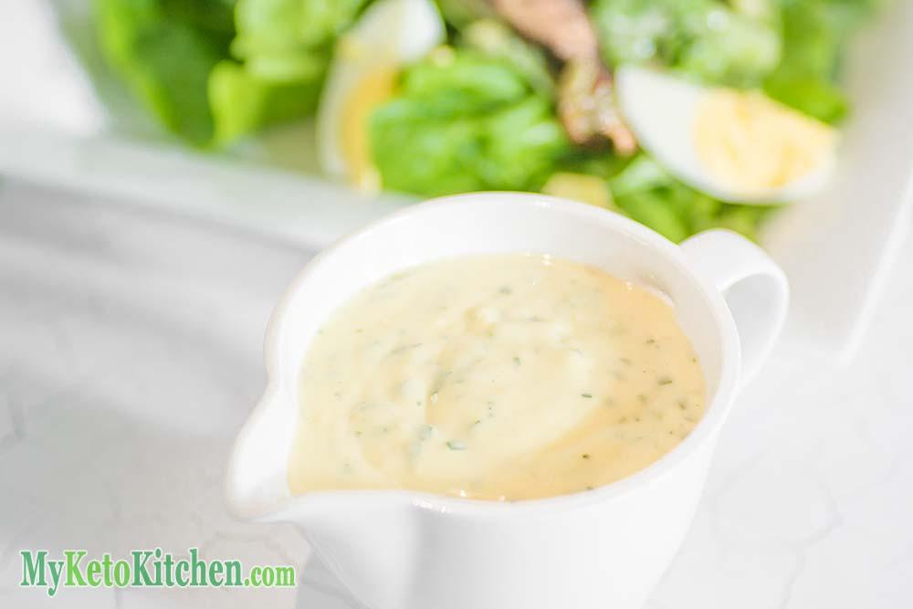 Low Carb Caesar Salad Dressing | My Keto Kitchen