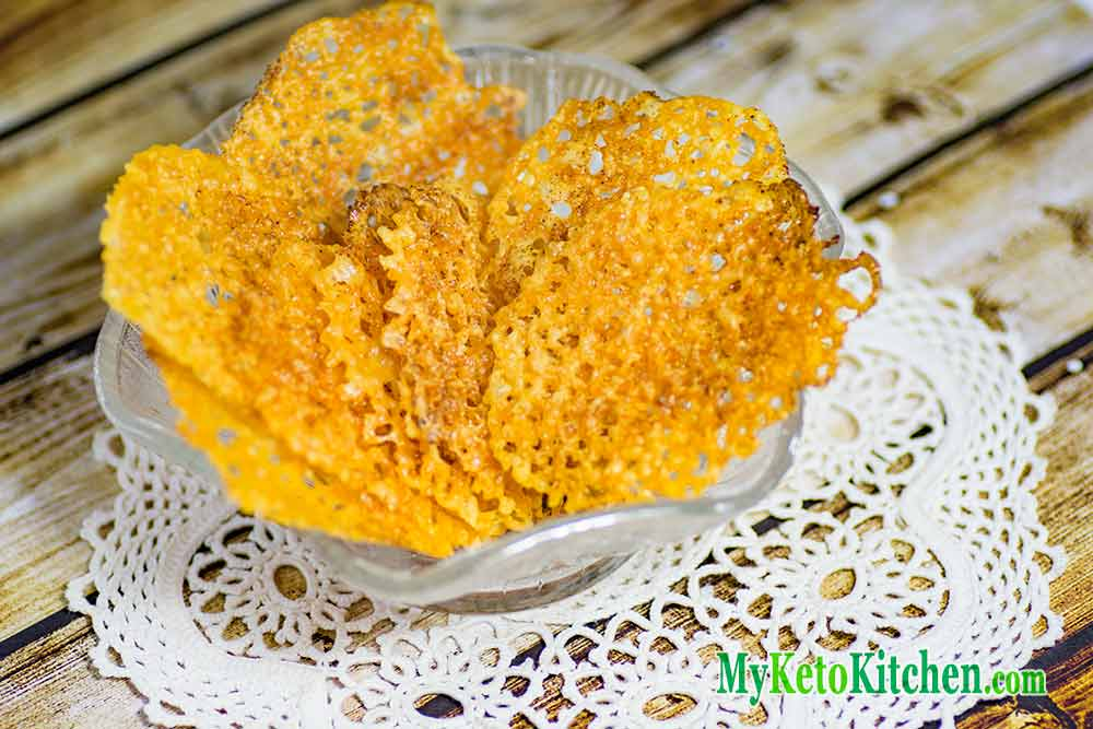 Easy Low Carb Cheese Chips Recipe | My Keto Kitchen